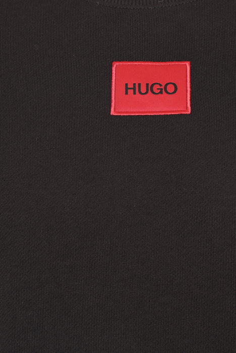 HUGO BOX LOGO CREW SWEAT BLACK