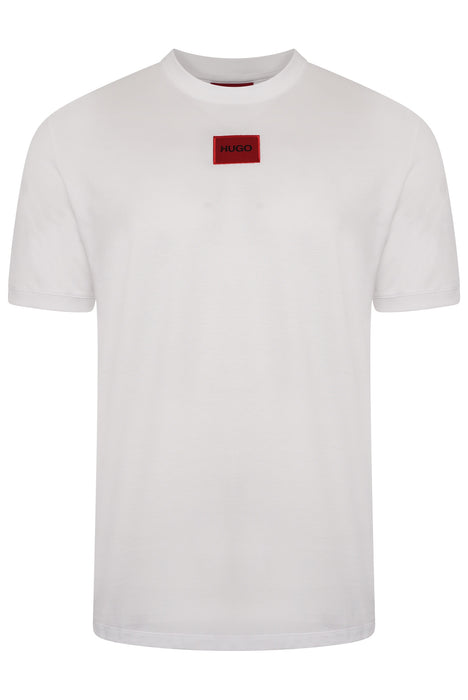HUGO BOX LOGO TEE WHITE