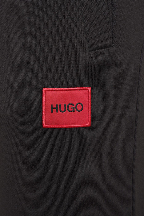 HUGO BOX LOGO CUFF JOGGER BLACK