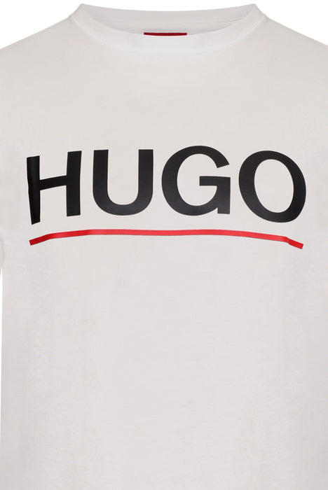 HUGO UNDERLINED LOGO TEE WHITE