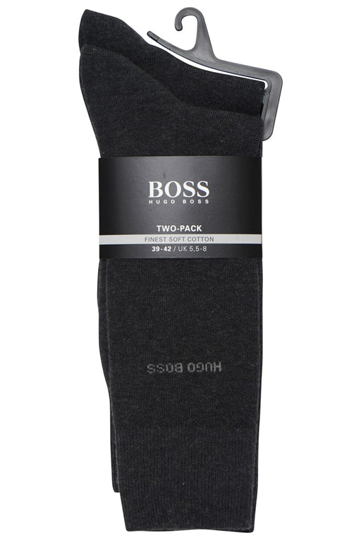 BOSS BODYWEAR CLASSIC 2 PACK COTTON SOCK GREY - giancarloricci
