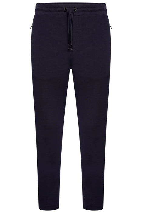 BOSS SMART CASUAL NYLON TRIM TAPERED JOGGER BLUE