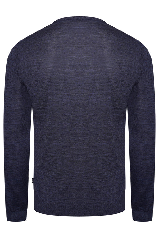 BOSS SMART CASUAL CLASSIC MERINO MARL CREW BLUE