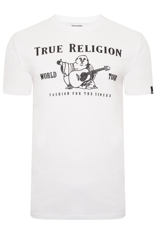 TRUE RELIGION CHAD CORE BUDDHA LOGO TEE WHITE