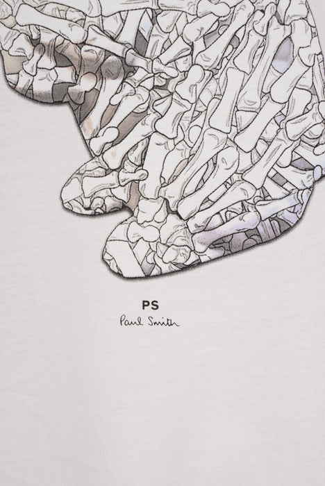 PAUL SMITH REGULAR FIT RABBIT BONES PRINT TEE GREY