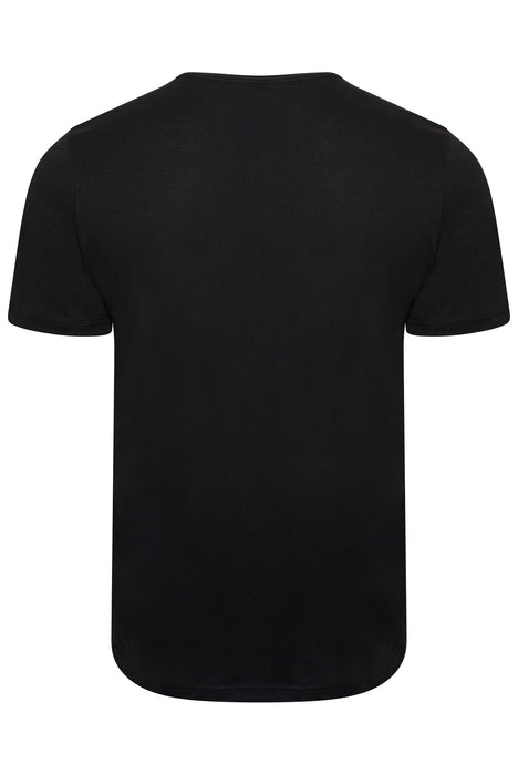 PAUL SMITH REGULAR FIT SKELETAL HAND PRINT TEE BLACK