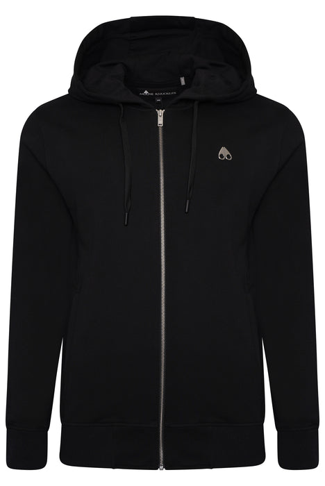 MOOSE KNUCKLES TREFORD ZIPPER HOODIE BLACK