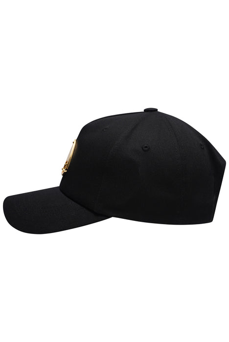 MOOSE KNUCKLES GOLD LOGO ICON CAP BLACK - giancarloricci