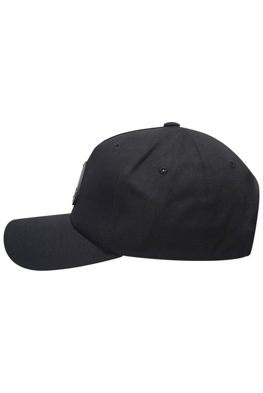MOOSE KNUCKLES BLACK METAL LOGO CAP BLACK