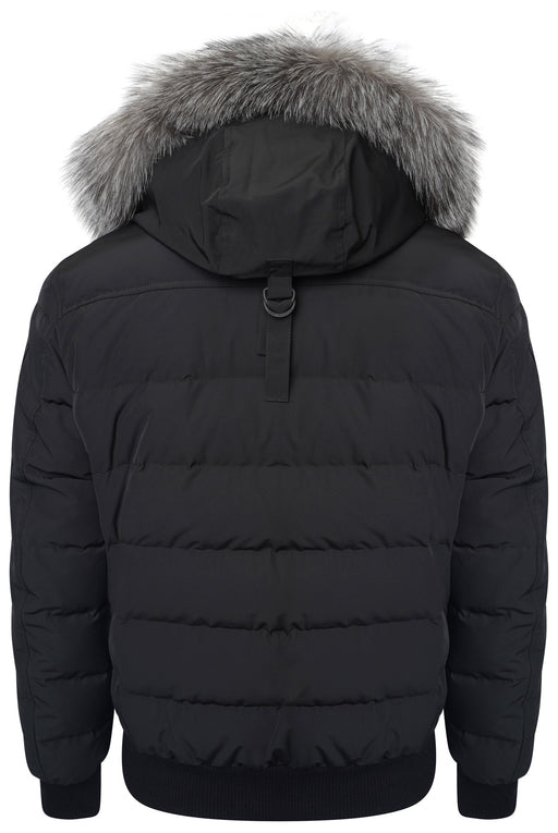 MOOSE KNUCKLES SCOTCHTOWN FUR HOOD FLIGHT BOMBER BLACK