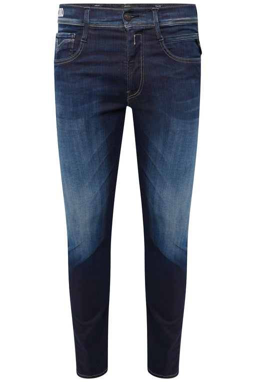 REPLAY HYPERFLEX SLIM FIT MID WASH JEAN BLUE - giancarloricci