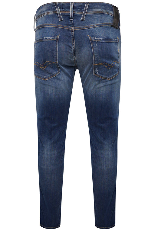 REPLAY HYPERFLEX SLIM FIT LIGHT WASH JEAN BLUE - giancarloricci