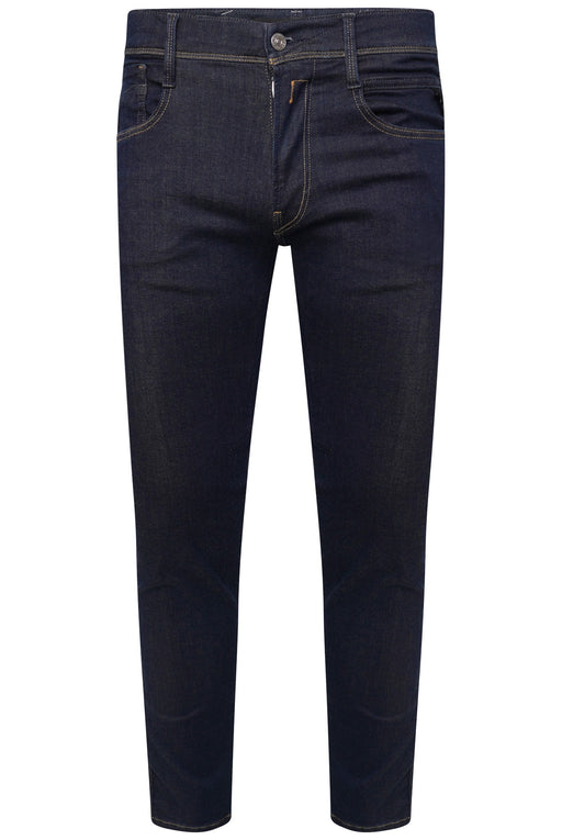 REPLAY HYPERFLEX SLIM FIT SOLID INDIGO JEAN BLUE - giancarloricci