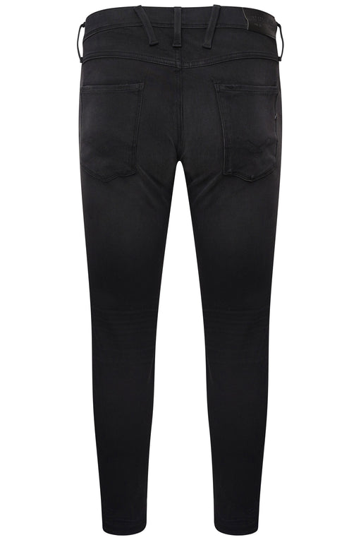 REPLAY HYPERFLEX PLUS SLIM FIT WASHED BLACK JEAN BLACK - giancarloricci
