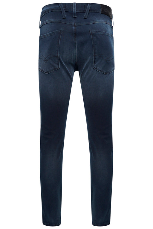 REPLAY SLIM FIT HYPERFLEX PLUS WASHED BLACK JEAN BLUE - giancarloricci