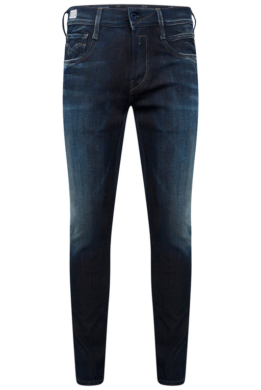 REPLAY SLIM FIT HYPERFLEX PLUS WASHED INDIGO JEAN INDIGO - giancarloricci