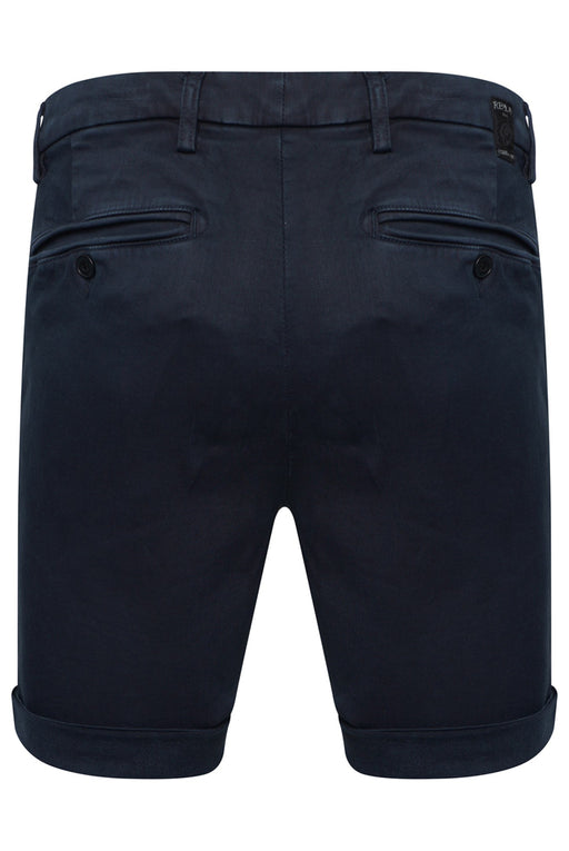 REPLAY HYPERFLEX CHINO SHORT BLUE - giancarloricci