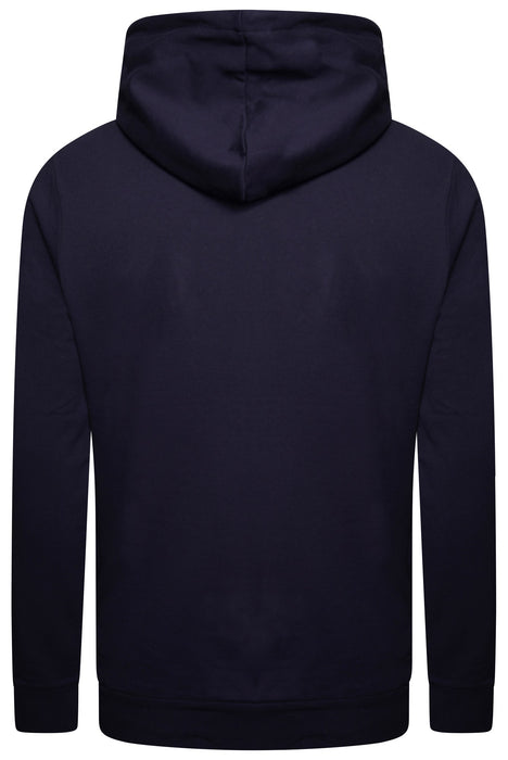 PAUL SMITH LOGO CHEST OVERHEAD HOODIE BLUE - giancarloricci