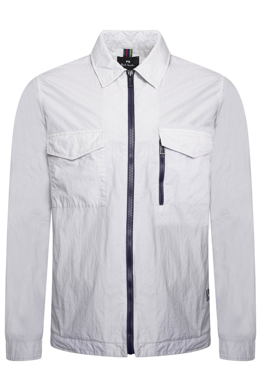 PAUL SMITH ZIPPER OVERSHIRT GREY - giancarloricci
