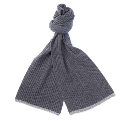 BARBOUR CROMER BEANIE & SCARF SET GREY
