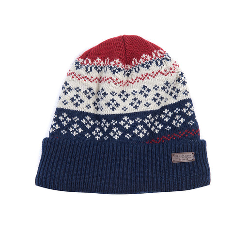 BARBOUR FAIRISLE BEANIE & SCARF SET BLUE