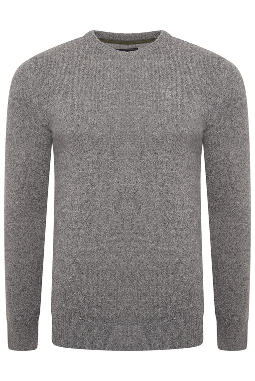 BARBOUR TISBURY TWEED FLECK KNIT GREY