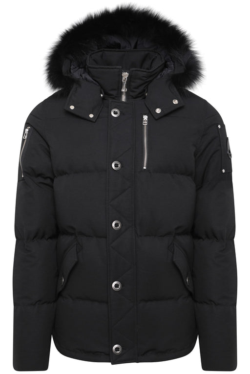 MOOSE KNUCKLES 3Q ZIPPER SIDE 3/4 JACKET BLACK