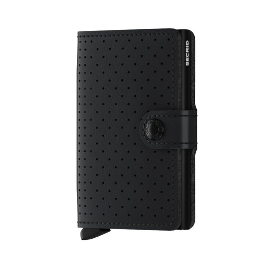 SECRID MINIWALLET PERFORATED BLACK - giancarloricci