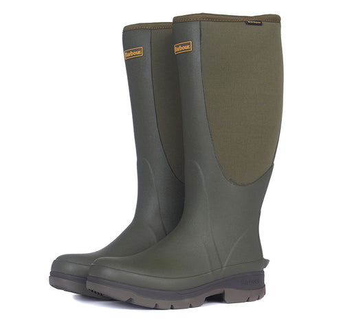 BARBOUR CYCLONE NEOPRENE LEG WELLINGTON GREEN