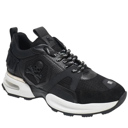 PHILIPP PLEIN RUNNER SPLIT SOLE SKULL SNEAKER BLACK - giancarloricci