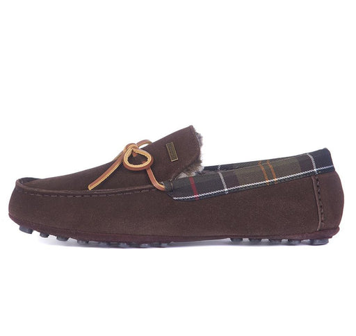 BARBOUR TUEART MOCCASIN SLIPPER BROWN