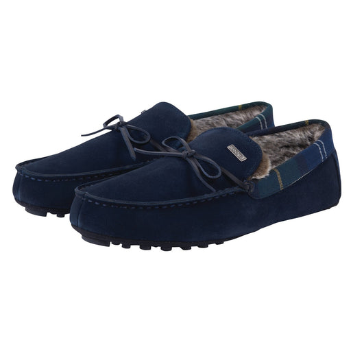 BARBOUR TUEART MOCCASIN SLIPPER BLUE