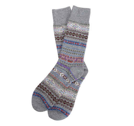 BARBOUR BOYD FAIRISLE KNITTED SOCK GREY