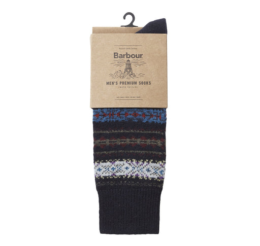 BARBOUR BOYD FAIRISLE KNITTED SOCK BLUE