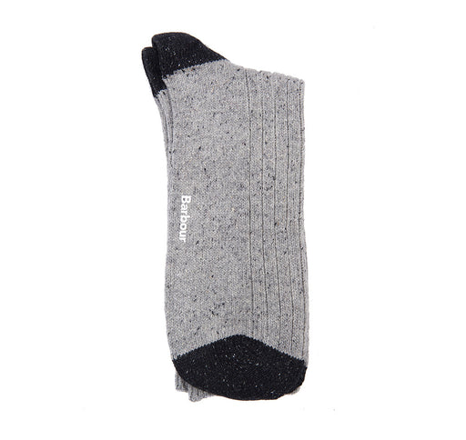 BARBOUR HOUGHTON TWEED HEEL & TOE SOCK GREY