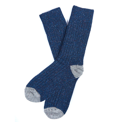 BARBOUR HOUGHTON TWEED HEEL & TOE SOCK BLUE
