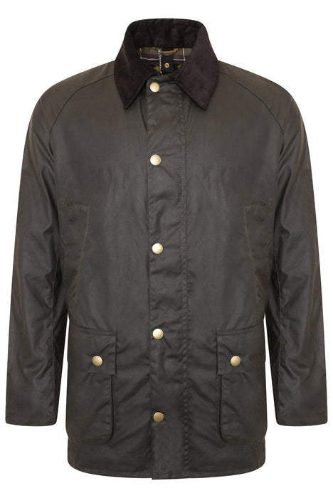 BARBOUR ASHBY PATCH POCKET WAX JACKET GREEN