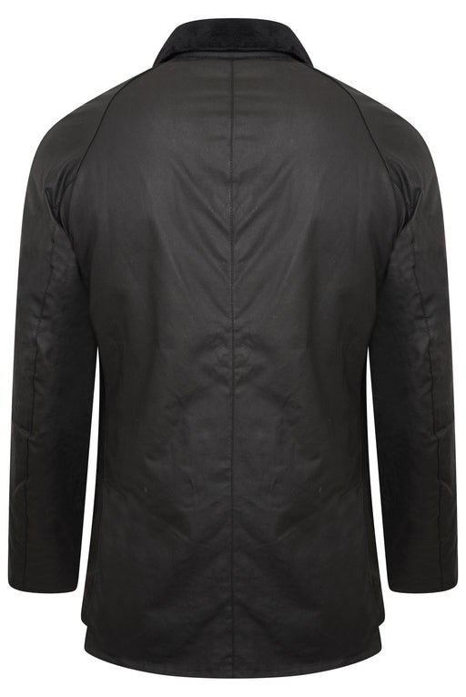 BARBOUR ASHBY PATCH POCKET WAX JACKET BLACK