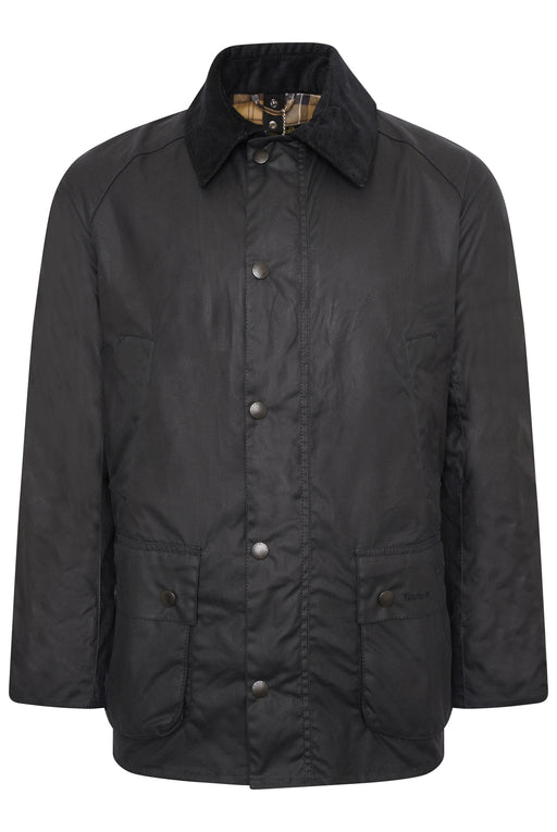 BARBOUR ASHBY PATCH POCKET WAX JACKET BLUE