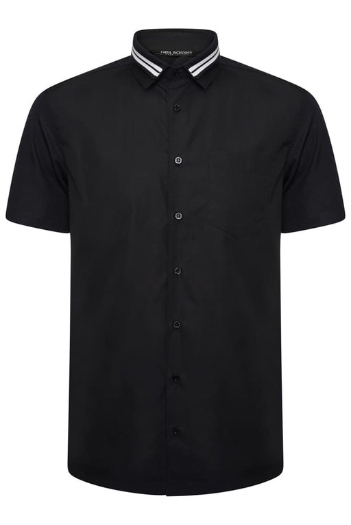 NEIL BARRETT FUTURE LEGEND STRETCH SHIRT BLACK - giancarloricci