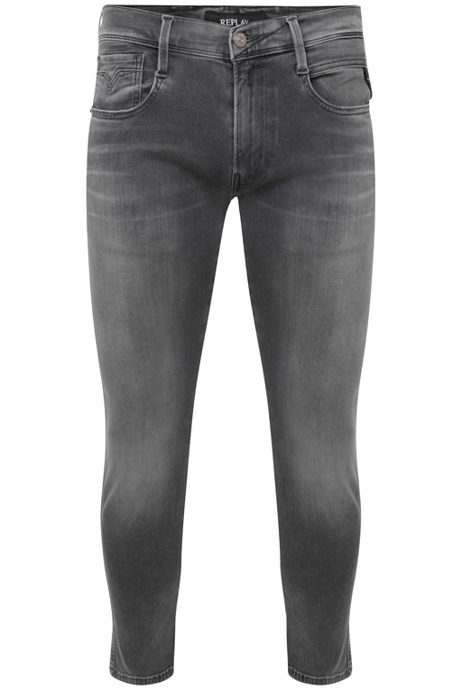 REPLAY HYPERFLEX SLIM FIT WASHED GREY DENIM GREY - giancarloricci
