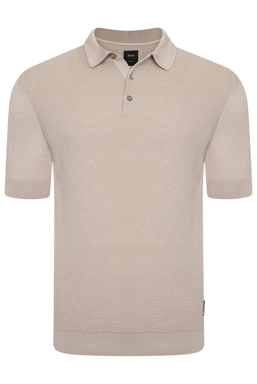 BOSS SMART CASUAL KNITTED POLO BEIGE