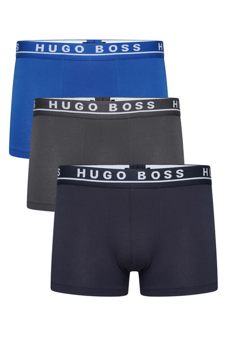 BOSS BODYWEAR CLASSIC 3 PACK TRUNK BLUE - giancarloricci