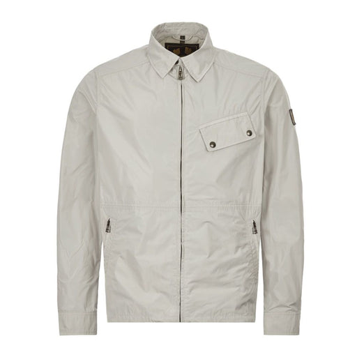BELSTAFF ANGLED POCKET NYLON OVERSHIRT GREY - giancarloricci