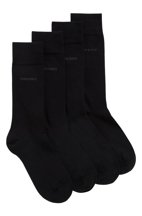 BOSS BODYWEAR CLASSIC 2 PACK COTTON SOCK BLACK - giancarloricci