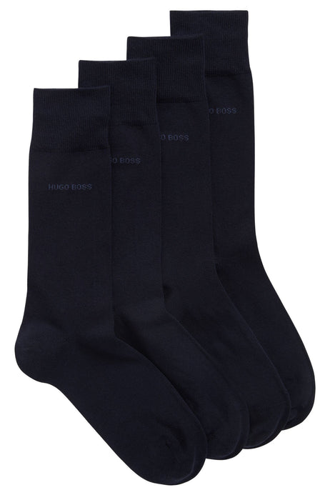 BOSS BODYWEAR CLASSIC 2 PACK COTTON SOCK BLUE