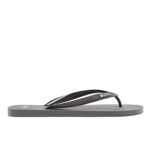 BOSS TOE POST FLIP FLOP BLACK - giancarloricci
