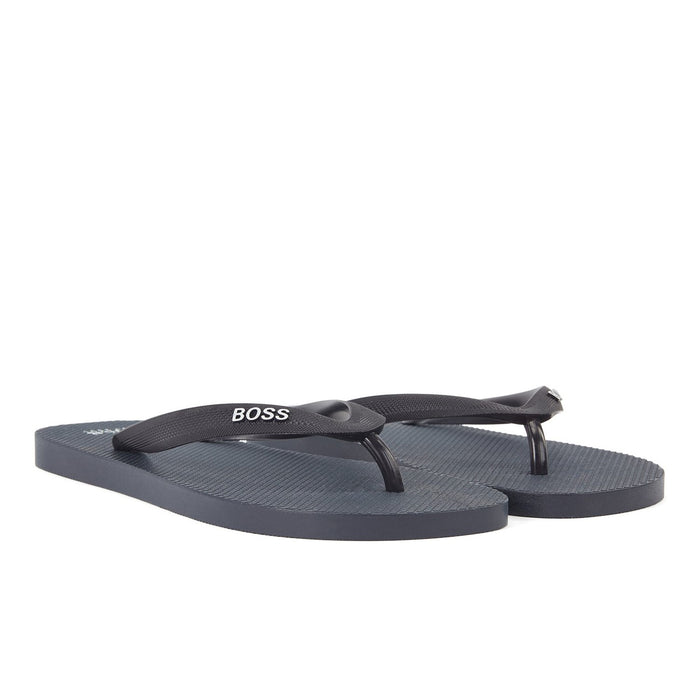 BOSS TOE POST FLIP FLOP BLUE - giancarloricci