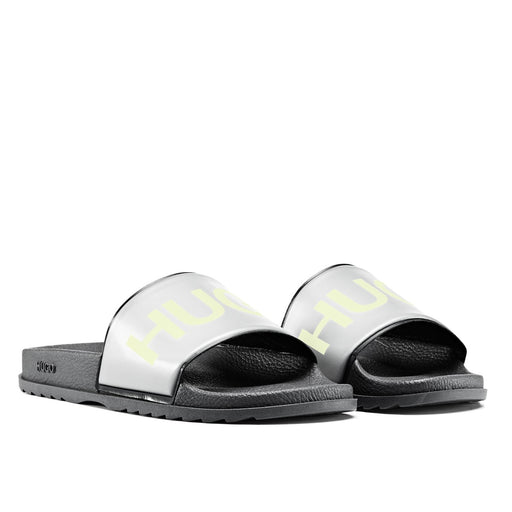 HUGO LOGO SLIDE GREY - giancarloricci