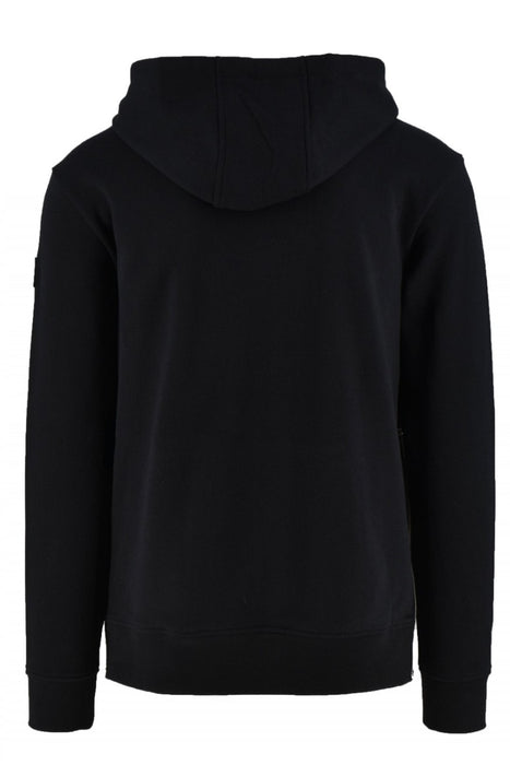 MOOSE KNUCKLES QUARRY PARK ZIP SIDE HOODIE BLACK - giancarloricci